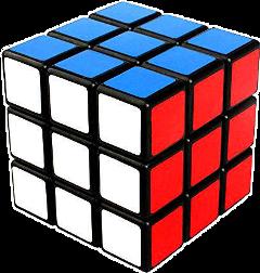 rubik cube white red blue freetoedit