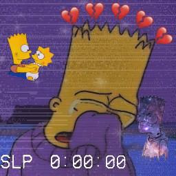 freetoedit simpsons heartcrown heartbreak