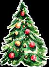 watercolor christmas tree decorative decorations freetoedit
