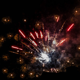 fireworks night sky beautiful light