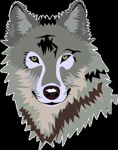 freetoedit grey wolf greywolf triangles scgray gray