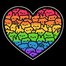 freetoedit rainbows heartshapes kittys kittens