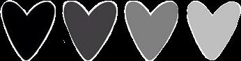 black grey heart hearts greyhearts freetoedit scgray gray