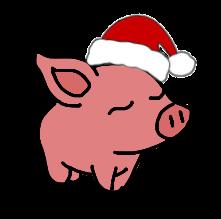 pig christmas hat loveit freetoedit