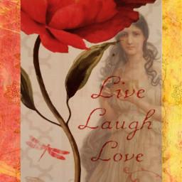 live laugh love vintage myart