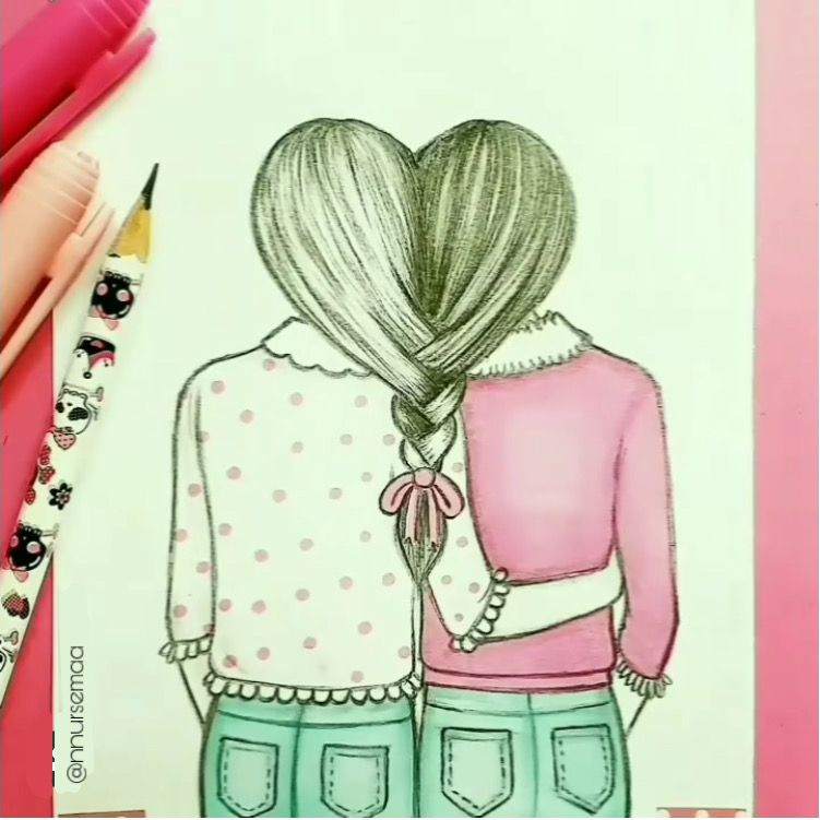 #drawings #pencil #artwork #art #draw #instagram #images #freetoedit #edits #tumblr #braid #girls #bestfriends