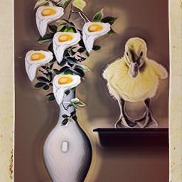 freetoedit interesting chicken surrealistic surreal