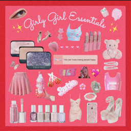 girly girlygirl barbie pinkaesthetic pastelred freetoedit