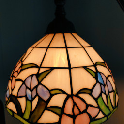 lamp stainedglass pattern warmlight indoorphotography freetoedit