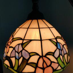 lamp stainedglass pattern warmlight indoorphotography freetoedit