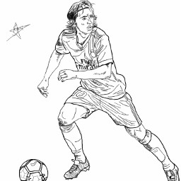 freetoedit modric realmadrid soccer football dcoutlineart