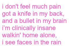 #lilpeep #thewayiseethings #lyrics #song #pink #aesthetic #tumblr