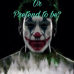 freetoedit quotesandsayings jokerface smile doubleexposure