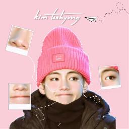 kawaii kimtaehyung v cute arrows freetoedit