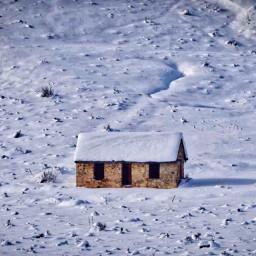 angeleyesimages snow winter shack instagram freetoedit