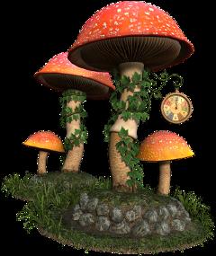 surreal fantasy surrealism forest mashrooms freetoedit