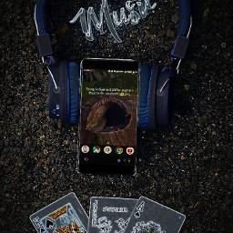 myphoto myedit music playingcards headphones