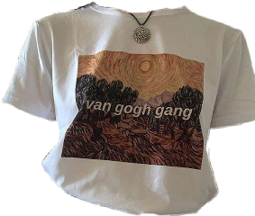 vangogh artsy shirt arthoe top eco freetoedit