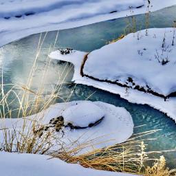 angeleyesimages snow winter ice river