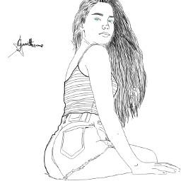 tumblrgirls tumblr girls paint freetoedit dcoutlineart