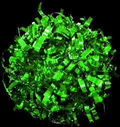 green tinfoil ribbon pompom decoration freetoedit