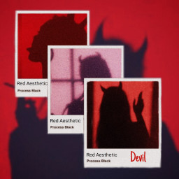 freetoedit red devil polaroid oop ecaesthetic aesthetic