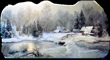 sticker inverno paesaggio freetoedit