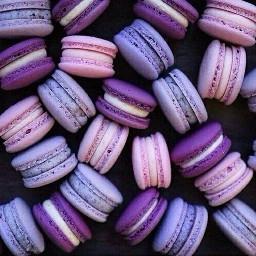 purple aesthetic macarons freetoedit
