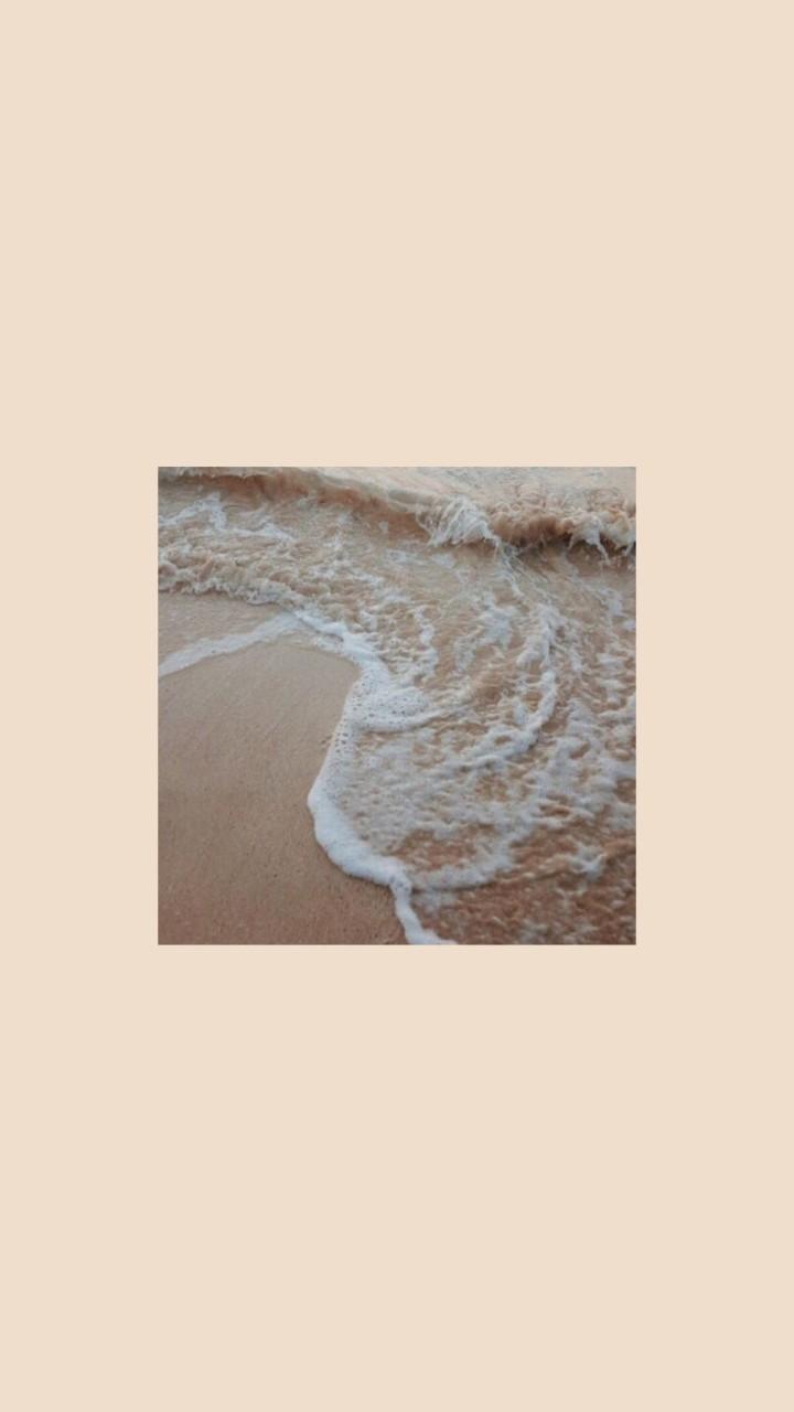 Beige Ocean Aesthetic Image By Akira