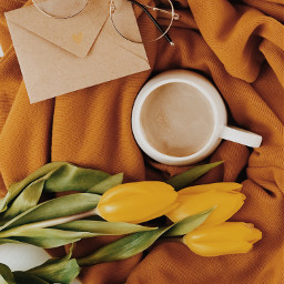 flatlay cozy coffee freetoedit