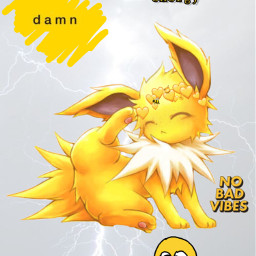 eeveelution yellow jolteon freetoedit
