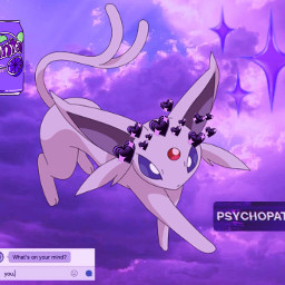eeveelution purple espeon freetoedit