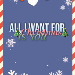 freetoedit alliwantforchristmasisyou christmas holiday letters
