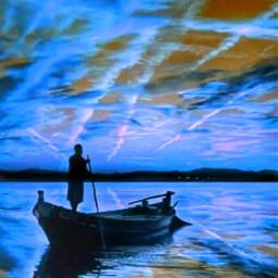 freetoedit mar blue azul canoa