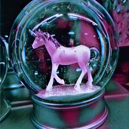 snowglobe unicorn magiceffectmoonlight freetoedit