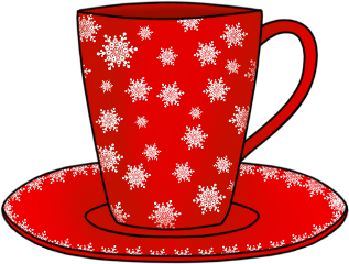 cup red snowflakes saucer winter freetoedit