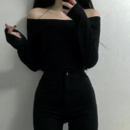 love black blackoutfit outfit look