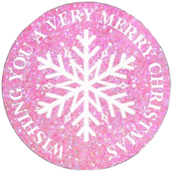 pink christmas snowflakes circle aesthetic freetoedit