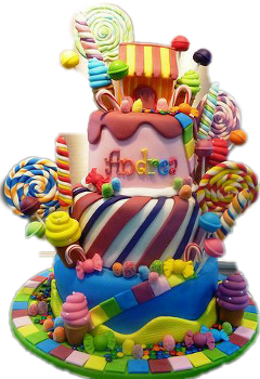 cake birthday colorful candy freetoedit