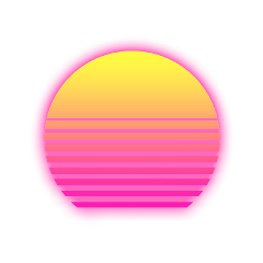 neon pink yellow orange sun freetoedit
