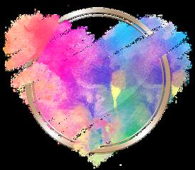 freetoedit love heart rainbow brush