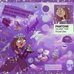 princess purpleaesthetic courtney totaldrama totaldramaisland freetoedit