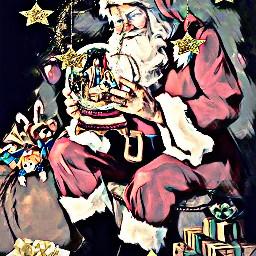 freetoedit christmas santa tree stars srcpurplesparkles purplesparkles