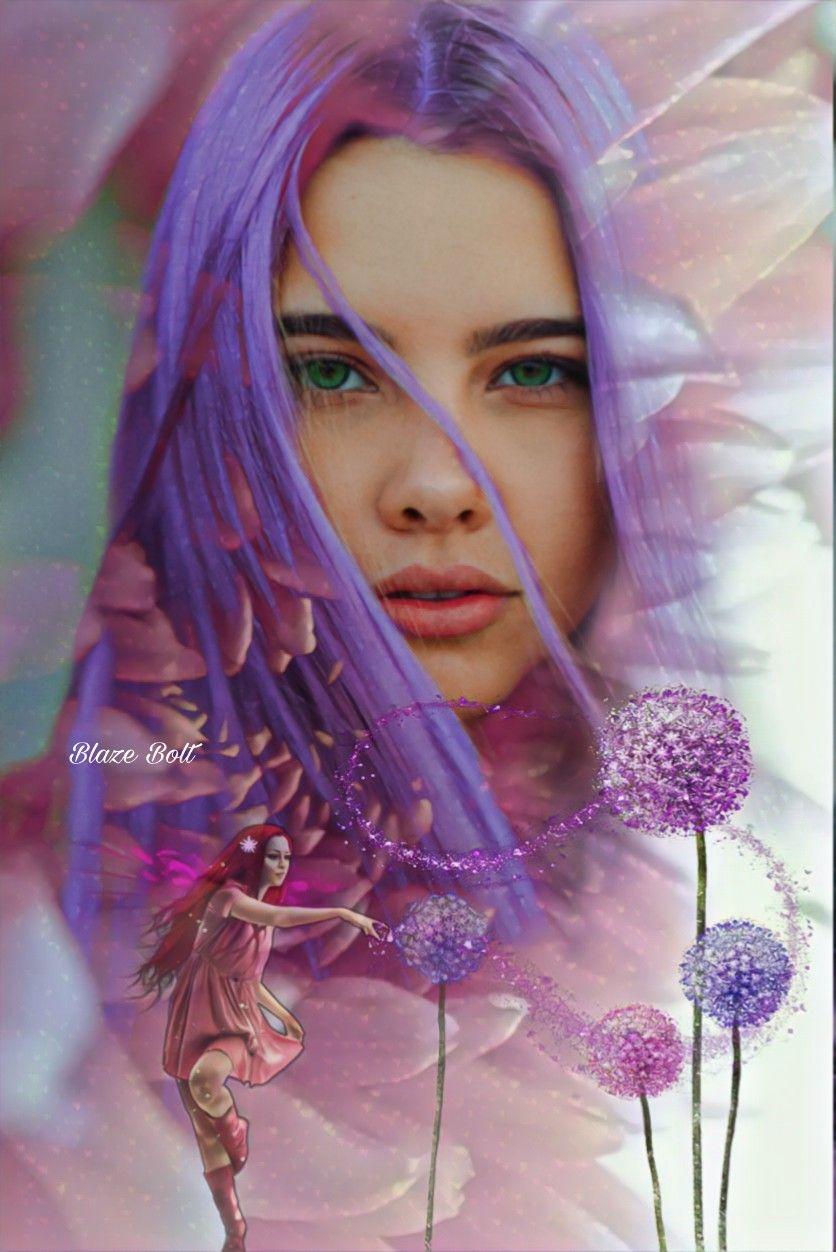 #freetoedit #doubleexposure #fantasy #purple #flowers #fairy #beautifytool #madewithpicsart