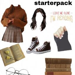 starterpack bookworm brownaesthetic freetoedit