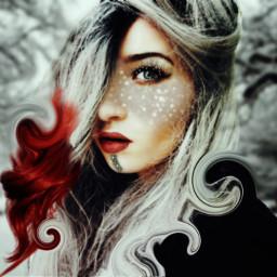 freetoedit winter snow beautifulgirl makeup ecchristmasmakeup christmasmakeup
