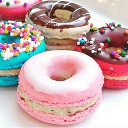 freetoedit macarons und donuts foryou