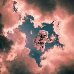 freetoedit space spaceman sky moon