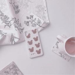 aesthetic simple cutie coffee bear