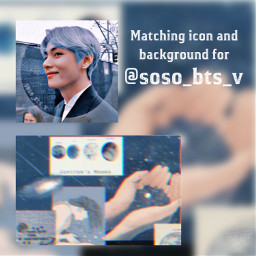 kimtaehyung icon v pfpbackground pfp freetoedit